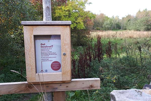 Get involved leaflet inside a wooden box